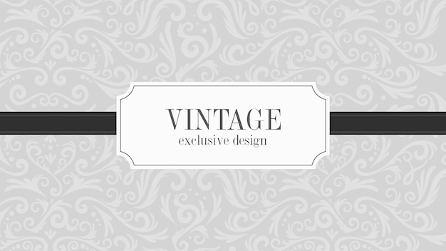 Fondo ornamental vintage de lujo gris