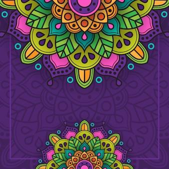 Fondo de ornamento islámico con múltiples colores y creativo