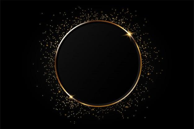 Fondo de oro del extracto del círculo.