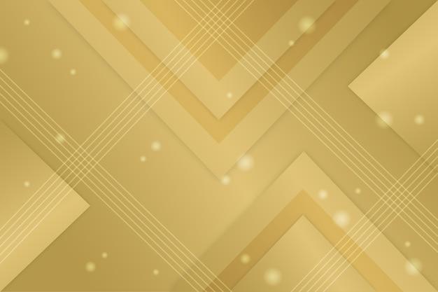 Fondo de oro de lujo con triángulos