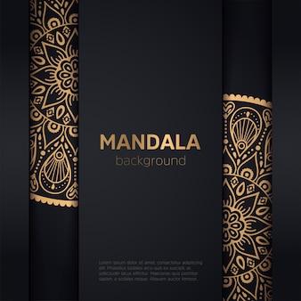 Fondo de oro con mandala.