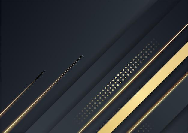 Fondo de oro negro superposición dimensión abstracta geométrica moderna. ilustración vectorial