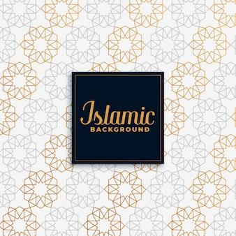 Fondo de oro patrón islámico