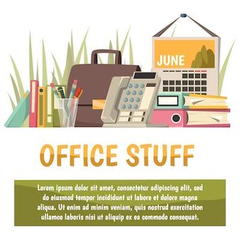 Fondo ortogonal plano de oficina