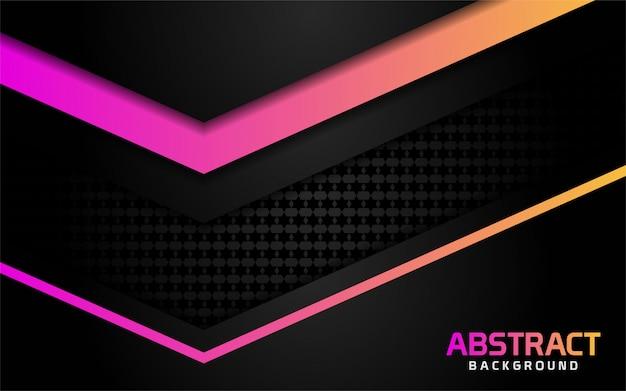 Fondo oscuro abstracto con efecto brillante colorido