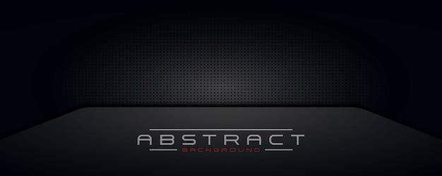 Fondo oscuro abstracto, fondo de pantalla, tecnología de diseño moderno de banner negro
