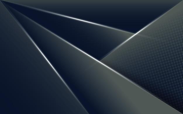 Fondo oscuro abstracto con forma geométrica