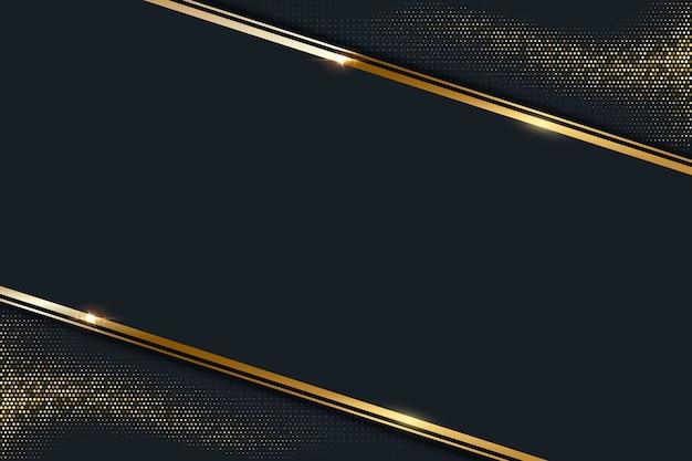Fondo oscuro abstracto con marco de línea dorada
