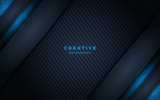 Fondo oscuro creativo con luz azul brillante.