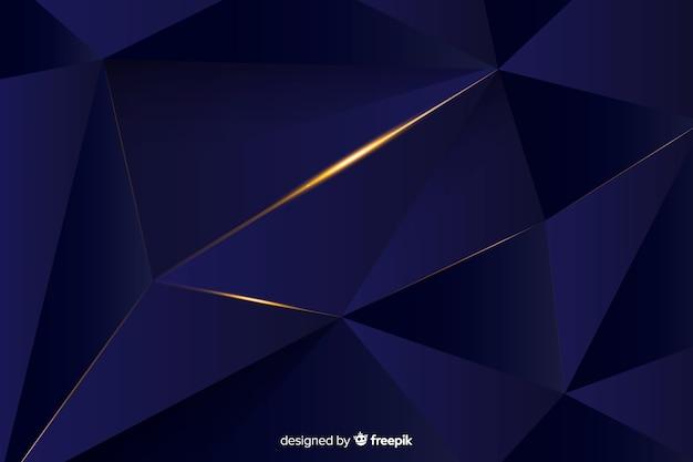 Fondo oscuro diseño poligonal elegante