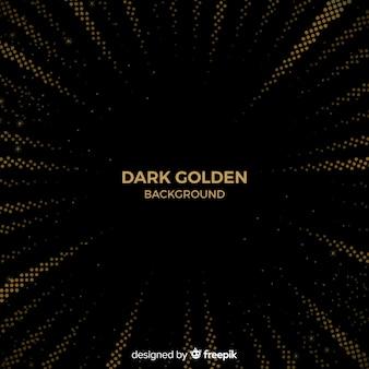 Fondo oscuro con efecto halftone dorado