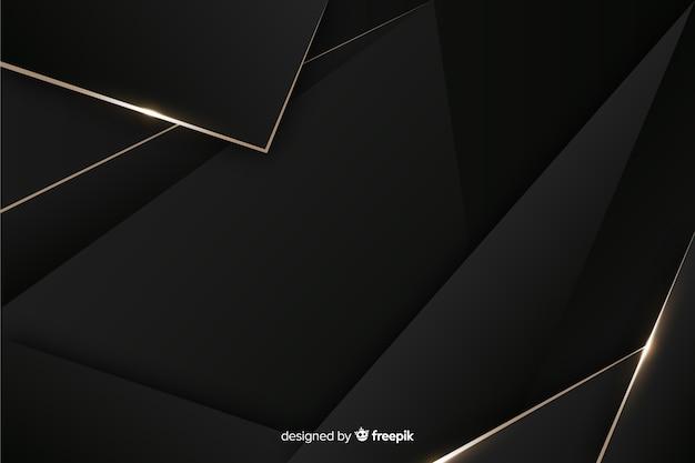 Fondo oscuro elegante con formas poligonales