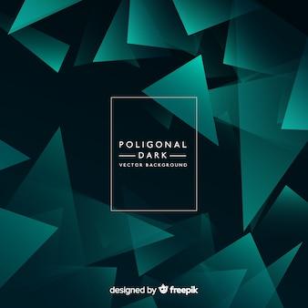 Fondo oscuro con formas poligonales
