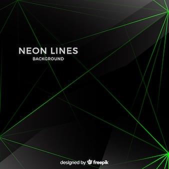 Fondo oscuro líneas abstractas de neón