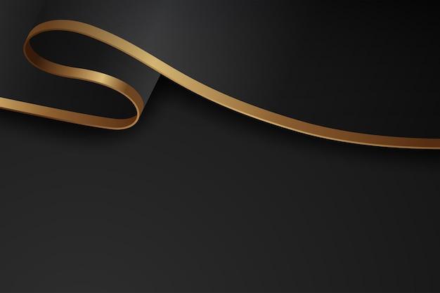 Fondo oscuro de lujo combinado con elemento de líneas doradas.