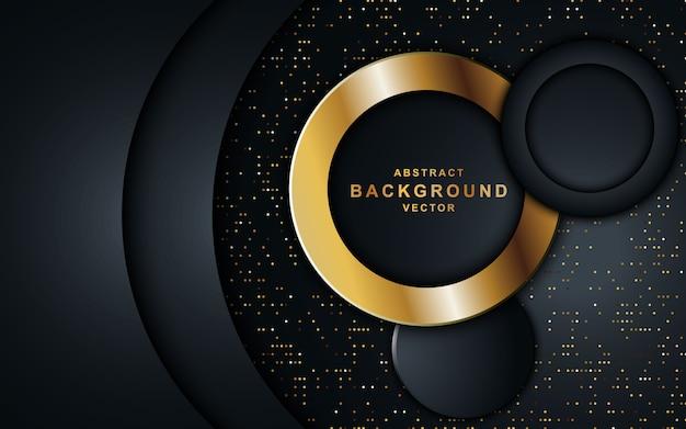 Fondo oscuro de lujo con forma de círculo.