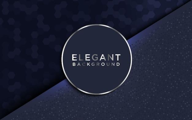 Fondo oscuro de lujo con textura hexagonal