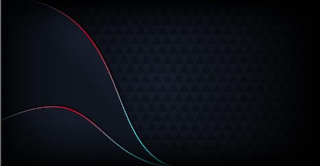 Fondo oscuro moderno abstracto con línea colorida del arco iris