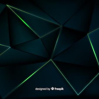 Fondo oscuro poligonal