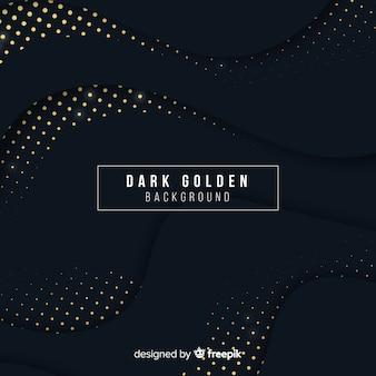 Fondo oscuro con reflejos dorados
