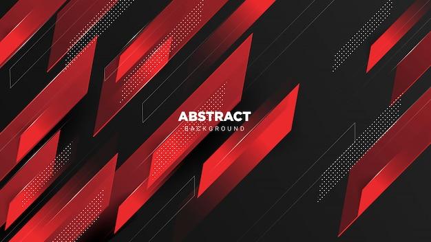 Fondo oscuro rojo abstracto 3d
