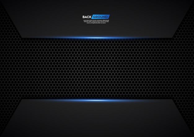 Fondo oscuro superpuesto capa con brillos plateados y luz azul