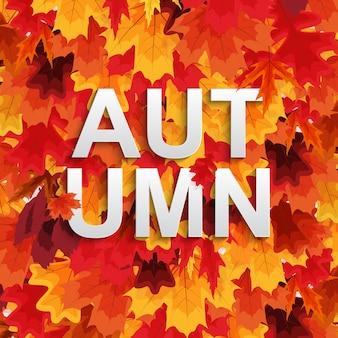 Fondo de otoño abstracto wiyj hojas que caen