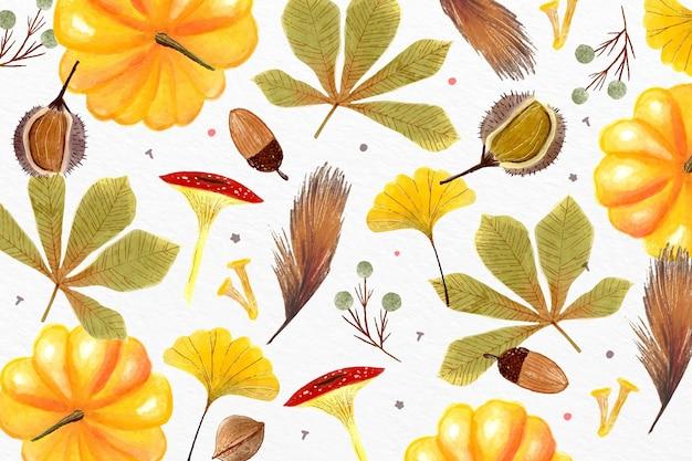 Fondo otoño acuarela