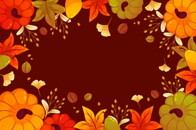 Fondo de otoño detallado