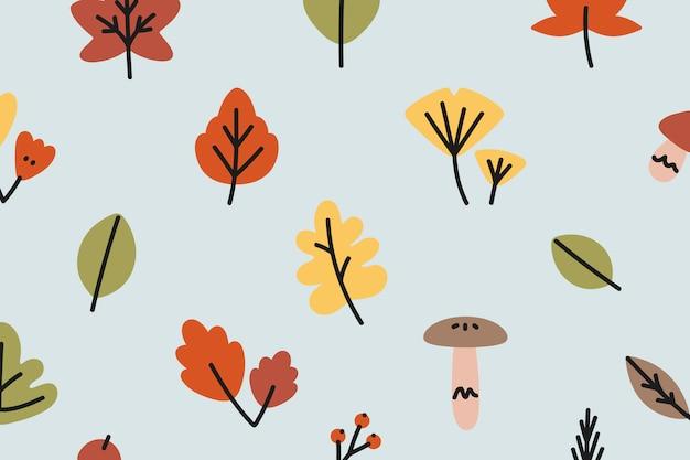 Fondo de otoño estampado