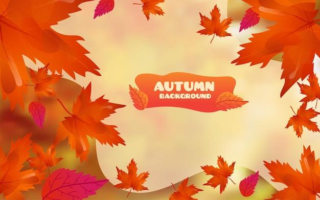 Fondo de otoño con estilo moderno con hojas