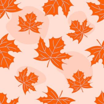 Fondo de otoño con hojas.