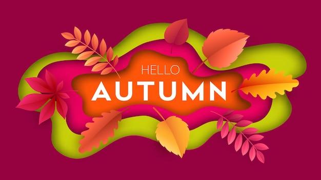 Fondo de otoño moderno de moda hola