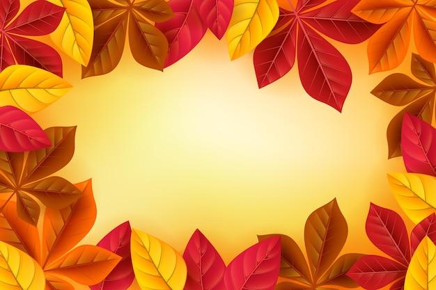 Fondo de otoño realista
