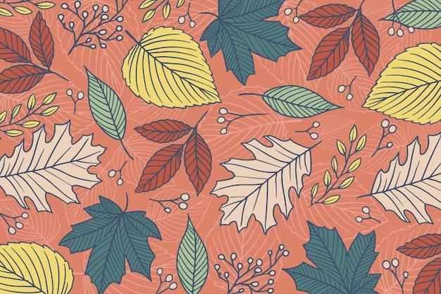 Fondo otoño vintage