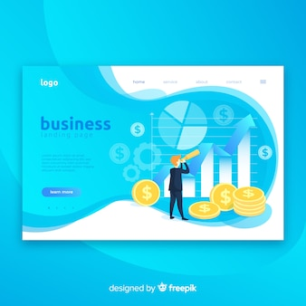 Fondo de página de aterrizaje de marketing empresarial