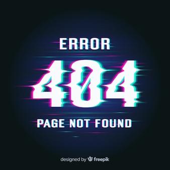 Fondo de página de error 404 con distorsión