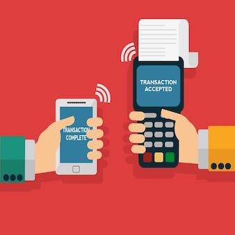 Fondo de pago con el teléfono