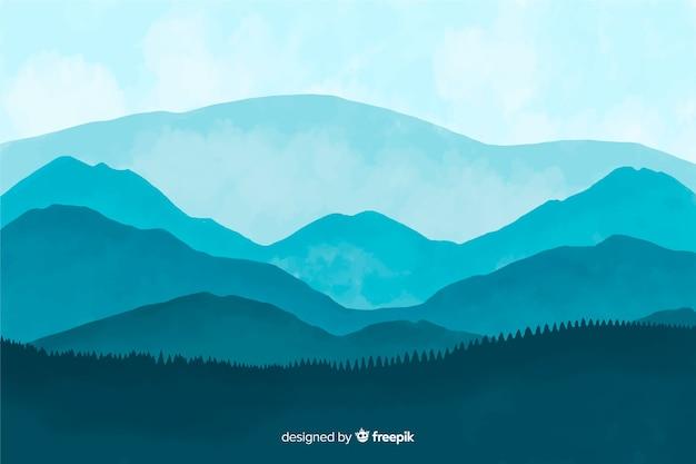 Fondo de paisaje abstracto de acuarela