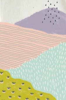 Fondo de paisaje abstracto dibujado a mano