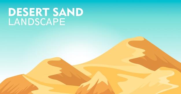 Fondo de paisaje de arena del desierto