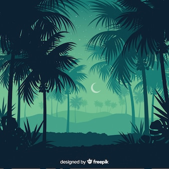 Fondo de paisaje de bosque tropical