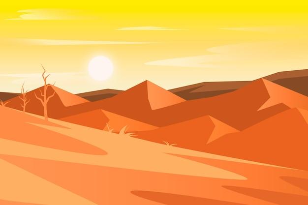 Fondo del paisaje del desierto