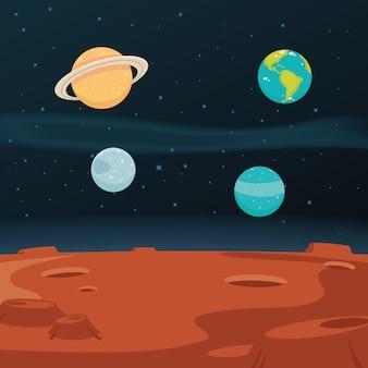 Fondo de paisaje espacial