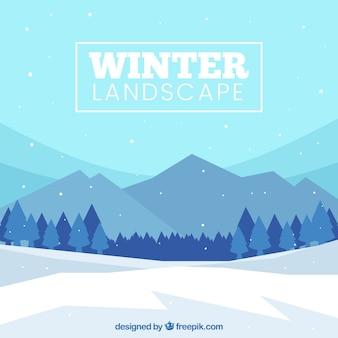 Fondo de paisaje invernal nevado