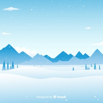 Fondo paisaje de invierno