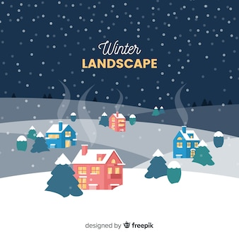 Fondo de paisaje de invierno