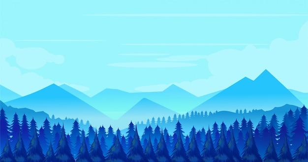 Fondo del paisaje de invierno