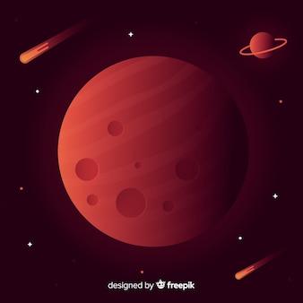 Fondo de paisaje marciano