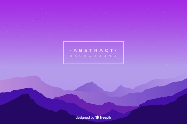 Fondo de paisaje de montañas de degradado púrpura